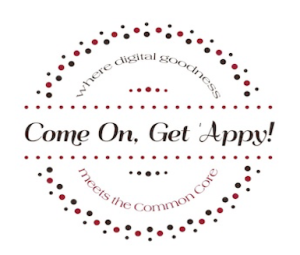 Come on get appy logo.