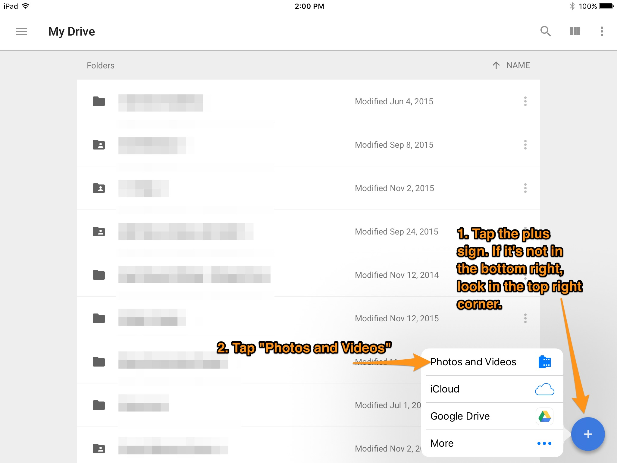 google drive how to add to outline