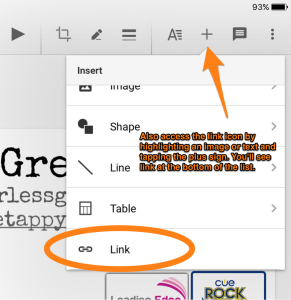hyperlinks in google docs and slides in the ipad apps come on